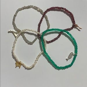 Johnny was gemstone stack bracelets